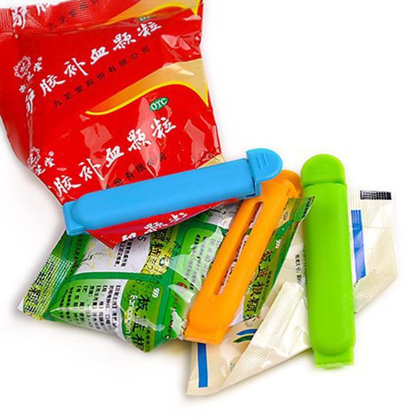 5 Unids / set Food Medicine Sealing Bag Clips Food Snack Sealer Plastic Seal Clamp Home Kitchen Storage Tool