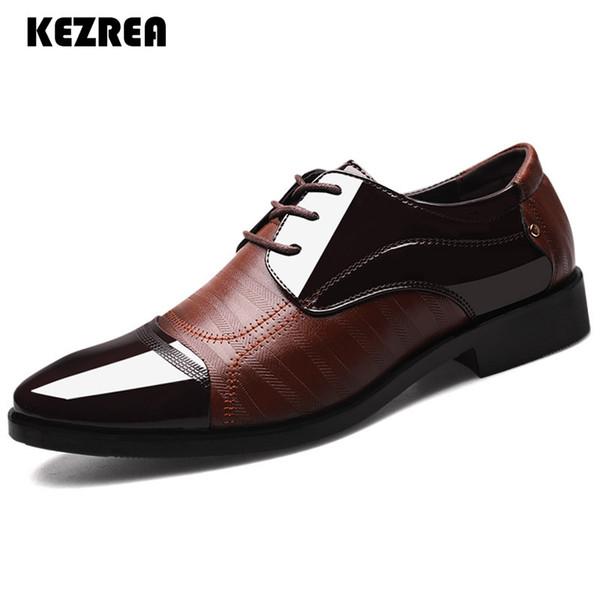 Kezrea Nova Moda Oxford Homens de Negócios Sapatos Casuais Primavera de Couro Genuíno Macio e Respirável Apartamentos Flats Zip Sapatos de Alta Qualidade