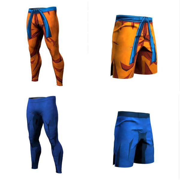 Fashion Compression Tights Dragon Ball Short Long Pants Fitness Leggings Men Slim Fit Joggers Workout Trousers Underpants J190511