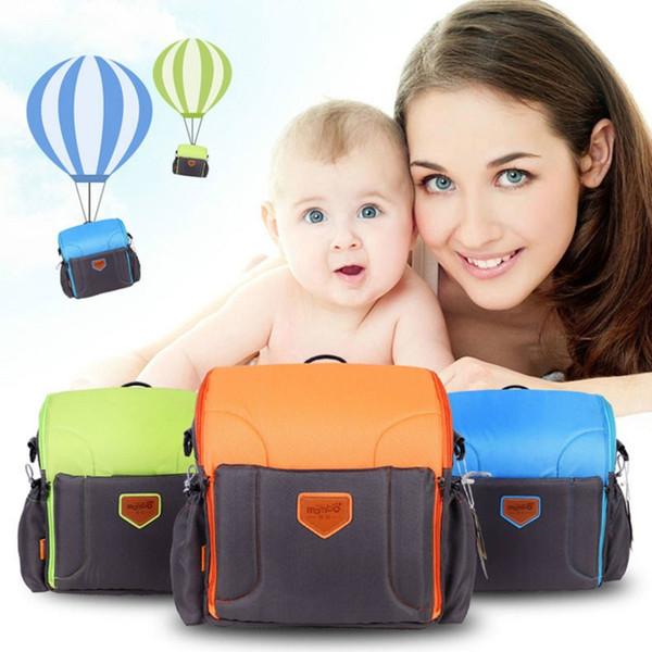 Bolsas de pañales para bebés 4+ Multifunción Asiento plegable Estación de alimentación portátil Cuidado del bebé Pañales de pañales para bebés Bolsa de viaje de momia hacia fuera