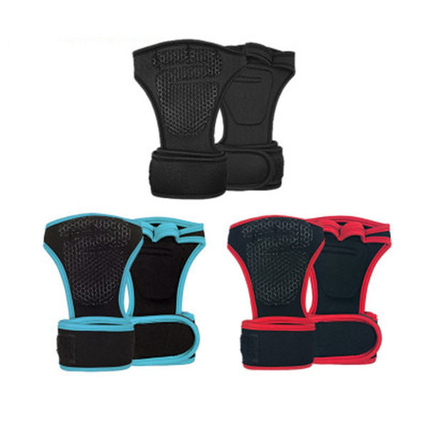 Sports Riding Weightlifting Gloves Silicone Half Finger Mittens Hand Palm Protection Gloves Training Fitness Sports Cycling Gloves ZZA670