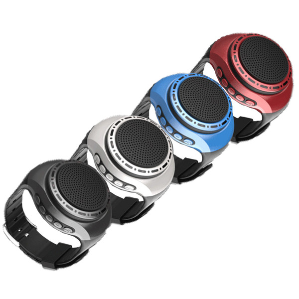 Running LED Cool Mini smart Watch Bass Bluetooth Speaker with lights Wireless sport For Music Player FM Audio Radio Portable loudspeaker