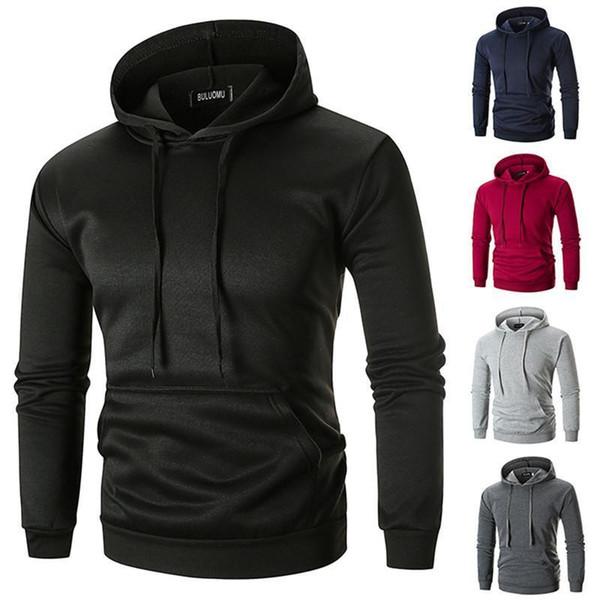 Pop 2019 5 Couleurs Hommes Casual Hiver Sweat Hoodies À Capuche Pour Hommes Manteau Pullover Survêtements Hommes M-2XL