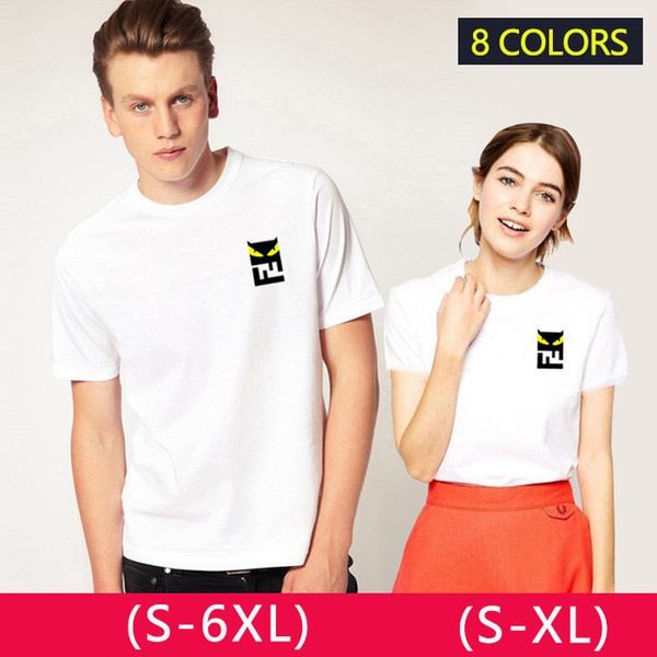 7ab4d2b33 2019 new men and women summer round collar short sleeve cotton half sleeve  men and women under the same style
