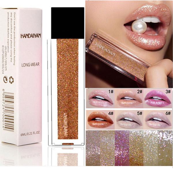 Barra de labios mate brillo de labios Brillo de labios cosméticos de belleza de maquillaje sirena Maquillaje Maquillaje Colourpop perla natural colorido Hidratante HANDAIYAN