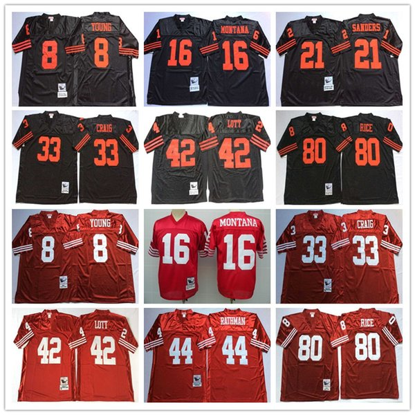 separation shoes dc1c2 a55fd 2019 2018 High Quality Men Jersey 16 Joe Montana Deion Sanders 42 Ronnie  Lott White Red Black Football Jerseys From X2018hao, $21.2 | DHgate.Com