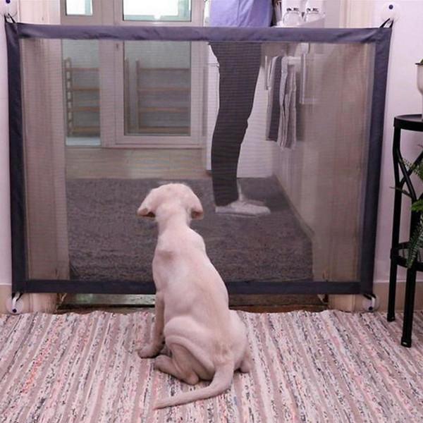 Cane portatile pieghevole protezione prodotti di sicurezza Mesh Magic Pet cancello per cani guardia di sicurezza bambini Baby Fence Q190530