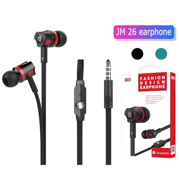 Langsdom JM26 Headphones 3.5mm Stereo in-ear earphone Headphone Earbunds Headset With Mic for apple Iphone Samsung cell Phone