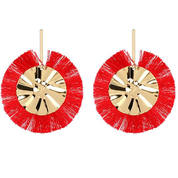 Handmade Bohemian Big Tassel Earrings for Women Lady Female Fringe Earring Brincos Fashion Statement Jewelry 2019 Dropshipping