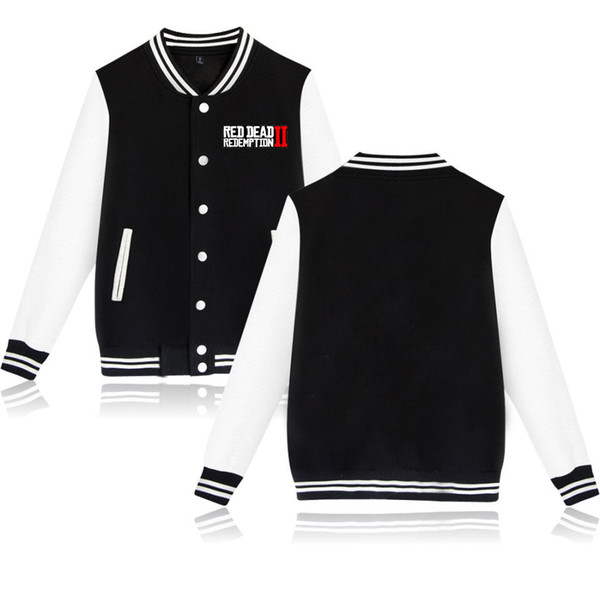 Red Dead Redemption 2 Printed Baseball Jackets Women/Men Fashion Long Sleeve Jackets 2019 Hot Sale Casual Streetwear Clothes