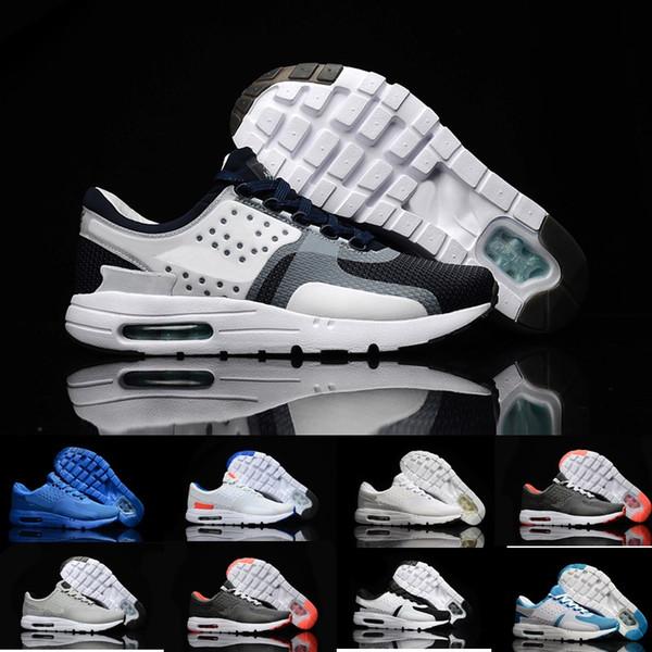 Nike Air Max Zero Essential 87 All'ingrosso moda sportiva sana confortevole corsa all'aria aperta all'aperto Zero 2 generazione scarpe da corsa uomini e donne nero bianco rosso grigio