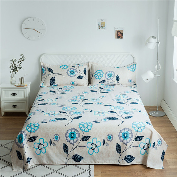 Four Seasons Flat Bedsheet Printed Bedding Fitted Sheet Mattress Cover Bed Sheet Bedspreads Cover