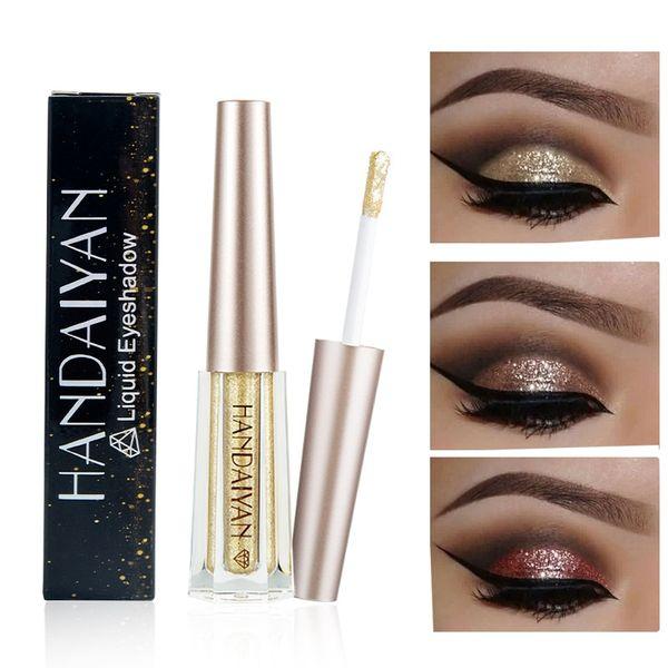 Liquid Glitter Eyeshadow Pencil Shimmer Eyeshadow Waterproof Long-lasting Shimmer Eye Shadow Eye Makeup Accessorices 12Colors