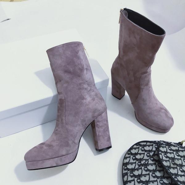 Damen-Designer-Schuhe Damen High Heel Booties Luxus-Designer-Schuhe Entwerfer-Frauen Absatz-Schuhe Superstar Damen Kleid Schuh ks19090602