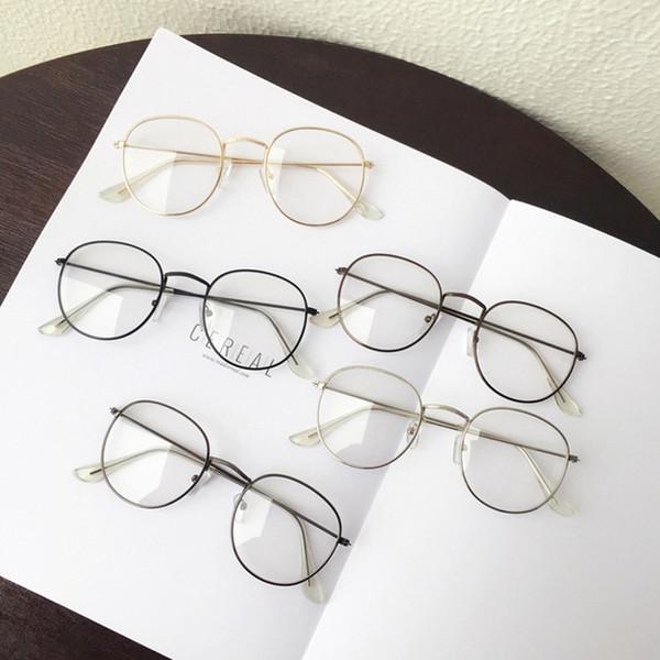 1PC Popular Vintage Round Metal Vintage Glasses frame retro Female  Spectacle Plain eye Glasses eyeglasses eyewear