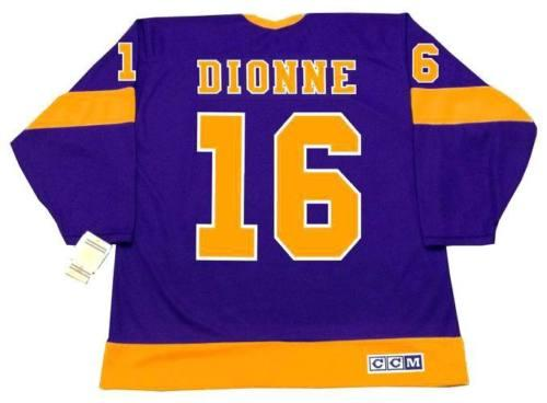 MARCEL DIONNE Los Angeles Kings 1978 CCM Vintage Away Hockey Jersey Tutti cuciti Qualita 'Qualunque Qualunque Qualunque Qualsiasi taglia Portiere