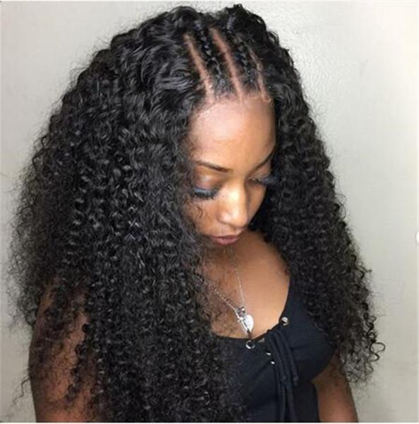 8A Grade Lace Front Wigs Full Lace Wigs 180% densité bouclés brésiliens vierges perruques de cheveux humains avec des cheveux de bébé autour