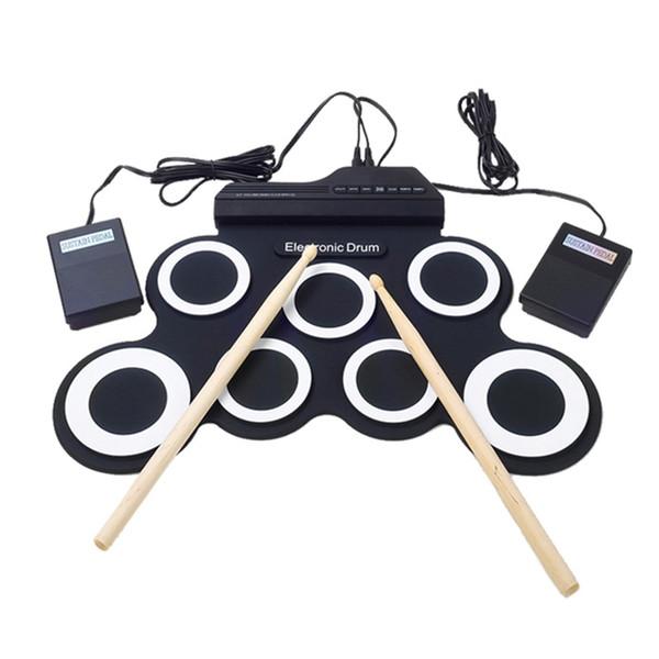 top popular Electronic Drum Set  7 Electronic Drum  7 Tone  8 Demo Song  7 Drum Pads Metronome Function  External Instrument Input Ava 2021