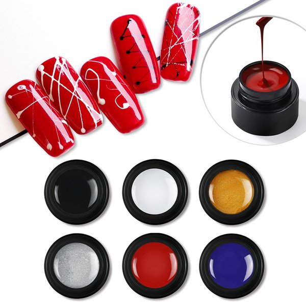 COSCELIA Wire Drawing Nail Gel Lacquer Painting Gel Varnish Pulling Silk Spider Creative 6 Colors Nail Art Gel Nail Polish