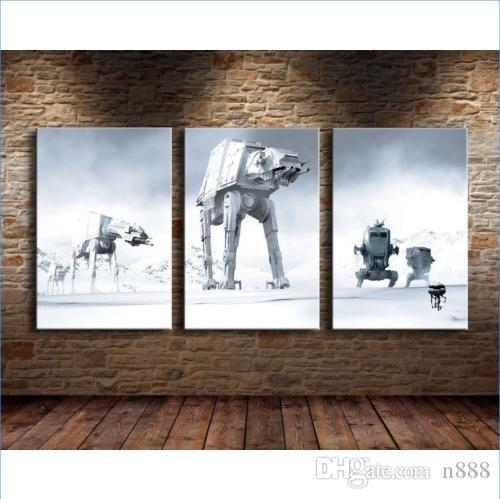 3Panel Set Super Hero Handainted HD Print Home Decor Modern Abstract Wall Art Pintura al óleo sobre lienzo de alta calidad Multi Tamaños / Marco 3p02