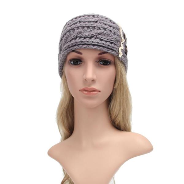 Damen Knopf Häkeln Gestricktes Haarband 6 Farben Studenten Einfarbig Haarband Frauen Yoga Stirnband 50 Stück DHL