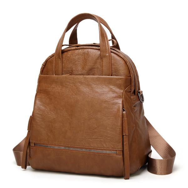 Retro Fashion New Shoulder Bag Crossbody Shoulder Dual-use Backpack Student Large-capacity School Bag Wild Travel Bag