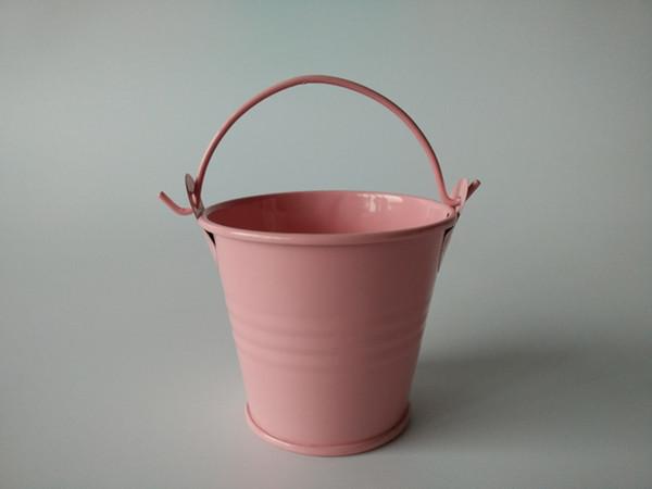 D6 * H5CM Rosa Mini Cucharas ollas Pequeñas Macetas Florero Baby Shower favor de partido suculentas plantador Favor de la boda titular