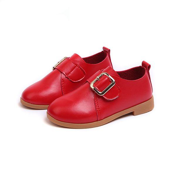 Primavera outono Macio Couro Meninas Princesa Sapatos Fashion Flat Com Grandes Meninas de Dança Para Crianças Flats sapatos