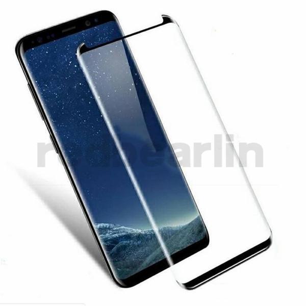 Per Sumsung Galaxy S9 S9 Plus 3D Custodia in vetro temperato Protezione per lo schermo Pellicola curvo Ultra Clear