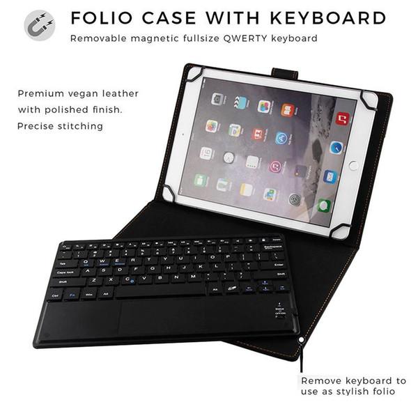 Universal-Tastatur-Kasten 2 in 1 drahtloser Bluetooth-Tastatur-magnetischer Leder-Kasten-Halter-Folio-Standplatz-Abdeckung für iPad Pro 9.7 Samsung Tablet