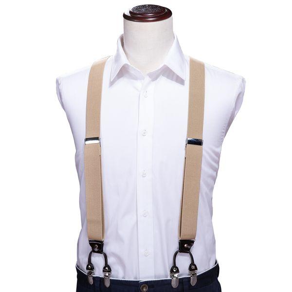 Привет-галстук Регулируемые эластичные лямки для взрослых подтяжки Y-образный клипсы мужские подтяжки 6 клипсы брюки подтяжки ForWomen ремни BH-1004