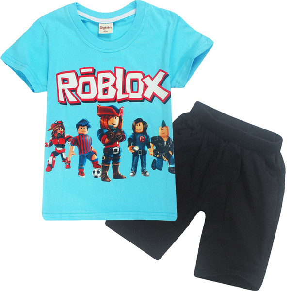 2020 Summer Cotton Childrens Clothing Roblox Cartoon Printing