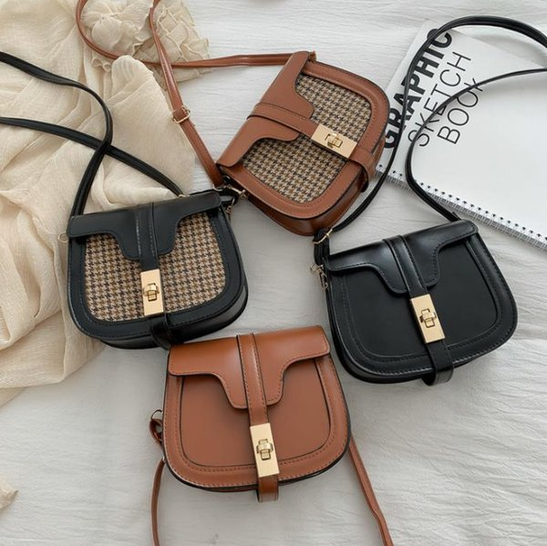 Wholesale Designer brand womens handbag shoulder bag cross-body metal strap genuine cobblestone pu lined polyester four colors B103228D