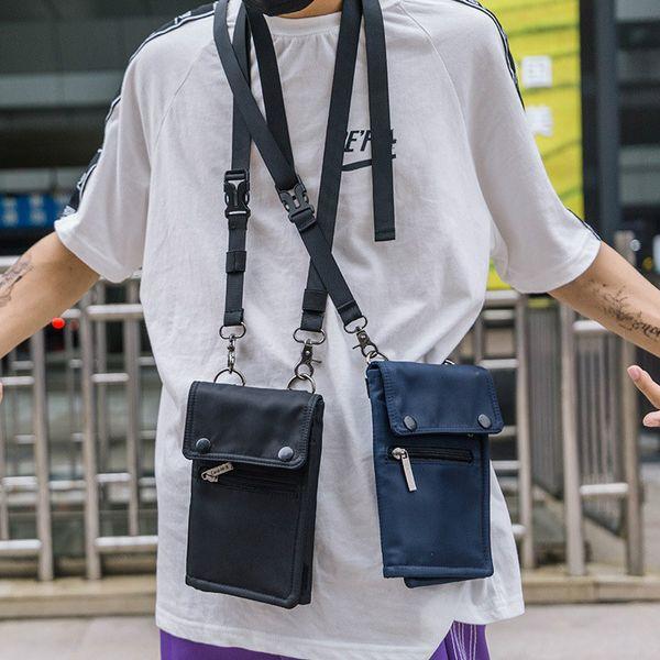 Luxury Unisex Women Men Bag Cell Phone Handbag Wallet Pouch Hanging Neck Lanyard Strap Small Shoulder Messenger Crossbody Bags