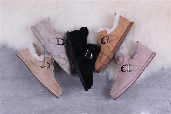 mit Box Designer 2019 WGG Stiefel Luxusschuhe gleitet Männer Frauen Schuhe Australien Fluff Winter beiläufige Mädchen Schnee Turnschuhe chaussures9af1 #