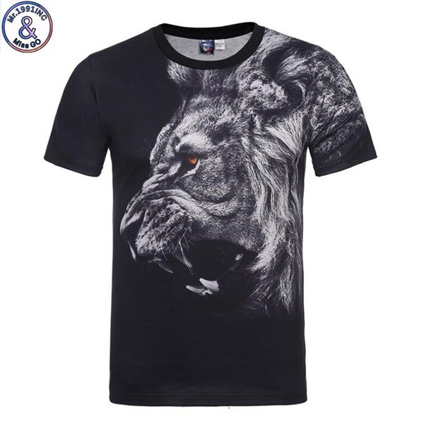 Mr.1991 Brand Special Original Design Lion King 3d Print T-shirt For Boys Or Girls Big Kids T Shirts 12-20 Years Teens Tops A54 J190529