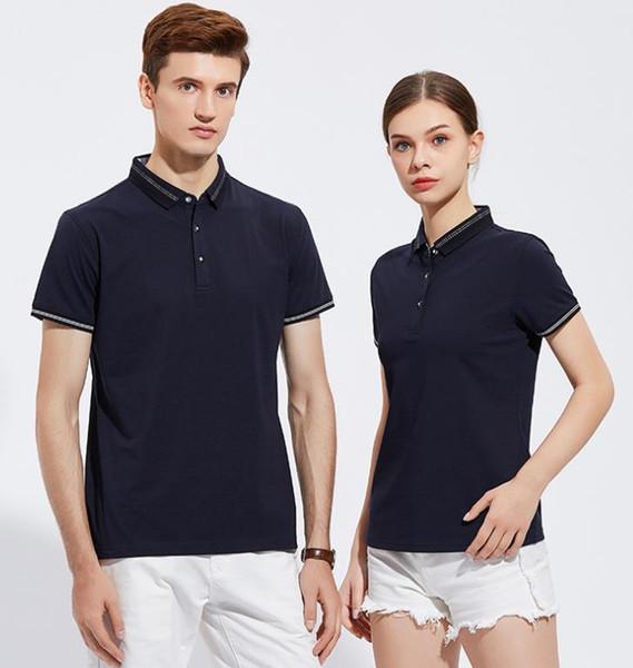 2019 High-grade beaded cotton lapel advertising shirt custom workwear purchasing group clothing short-sleeved Polo shirt T-shirt custom