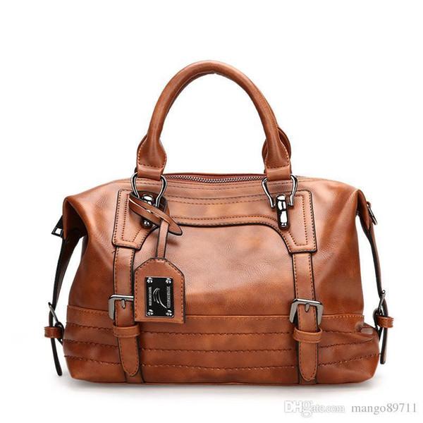 Women Handbag Lady Soft Pu Leather Bag Women Phone Pocket Fashion Shoulder Bags Soft Handle Casual Tote Bag