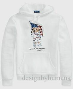 $ 250 POLO Diseño Hombres 039 s largo y blanco SDesignVE JERSEY OSO Suéter S