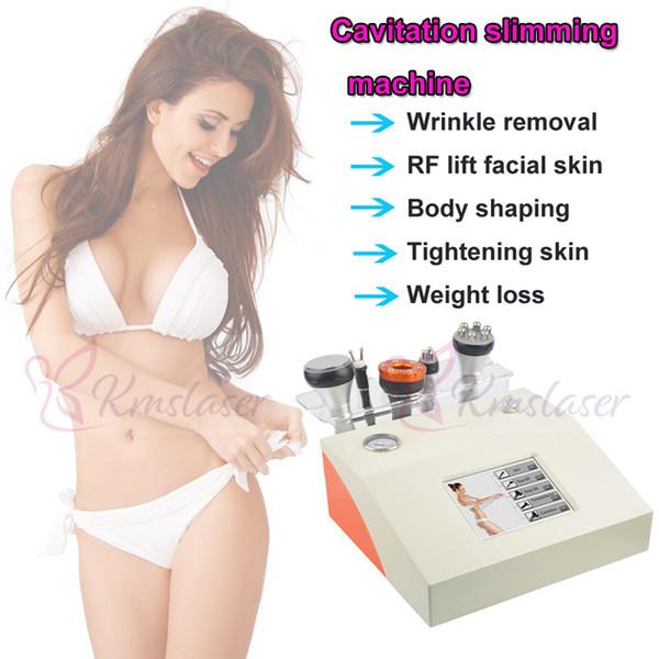 5 in 1 40 Khz RF radyo frekansı bio mikro akım yüz germe kırışıklık kaldırma çil kaldırma vücut zayıflama kilo kaybı anti aging spa salonu e