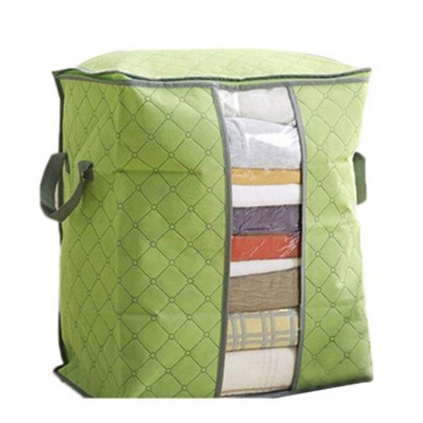 1 PC-Mehrfarbenbambuskohle Quilt Kleidung Aufbewahrungstasche Sortierung Taschen-Speicher-Beutel Non-Woven-Storages Startseite Box-Tool