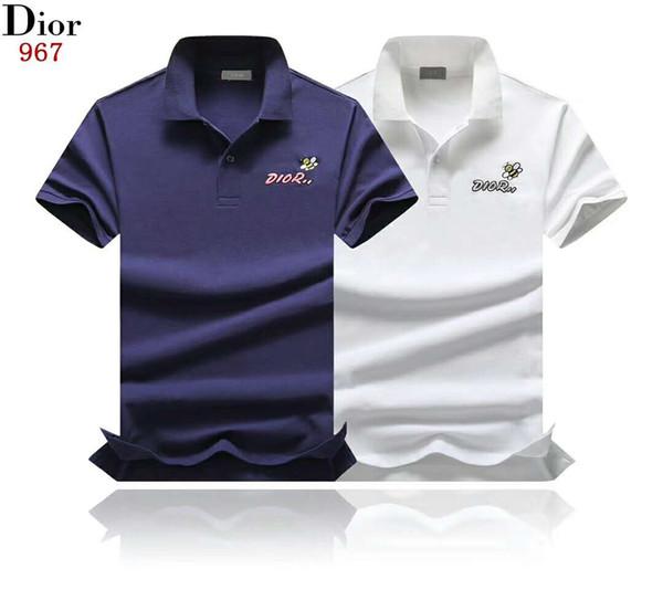 Yeni yaz baskı erkek ve kadın erkek Polo gömlek erkek pamuk kısa kollu erik T-shirt özel high-end moda gömlek Medusa Polo shi