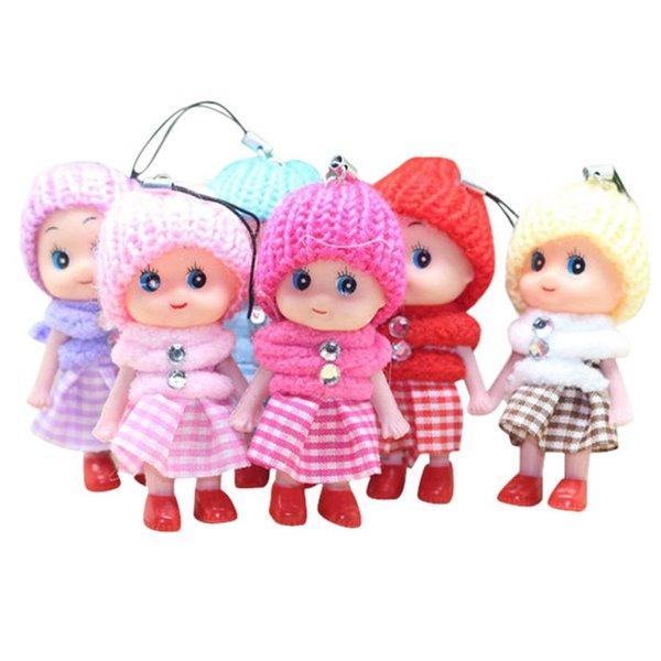 Симпатичные детские игрушки мягкие интерактивные детские куклы игрушки брелок мини-кукла брелок для девочек брелок для ключей MMA2883