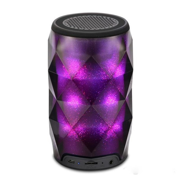 New Portable Bluetooth Speaker LED Light Speaker Colorfull Wireless Bluetooth Deep Subwoofer Stereo Portable Speakers Free Shipping