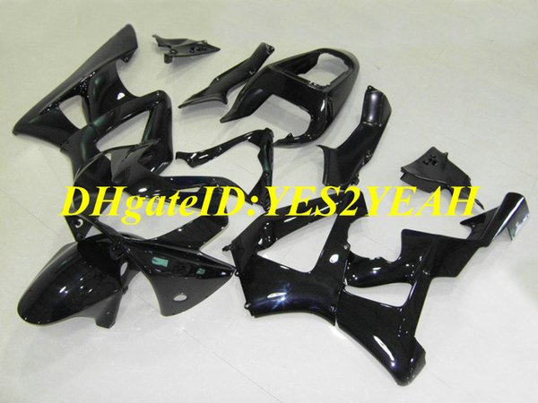 Custom Injection mold Fairing kit for Honda CBR900RR 929 00 01 CBR 900RR CBR900 2000 2001 ABS All gloss black Fairings set+Gifts HZ25