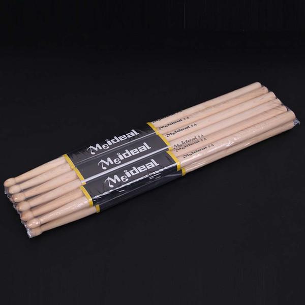 top popular 1Pair Professional North American Maple Wood Drum Sticks 5A Drumsticks Musical Instruments Drum Sticks Drum Accessories 2021