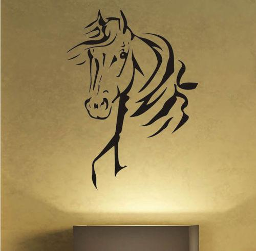 Horse Head Home Decor Wall Sticker Funny Animal Art Vinyl Decal For Bedroom Room Decoration Art Painting Tattoos