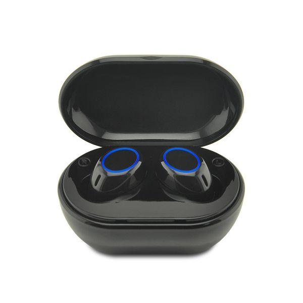 A2 Mini Bluetooth V5.0 TWS Écouteurs sans fil Jumelage automatique, commande tactile, sport, écouteurs stéréo, appel binaural, double microphone, écouteurs