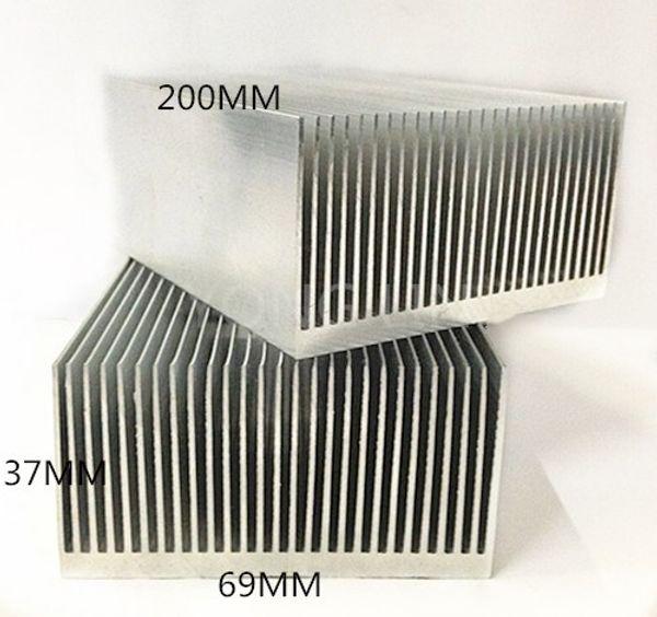 2piece extruded aluminum heatsink 200*69*37mm Computer dedicated heat sink/Fine-toothed fin