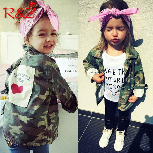 R&Z 2018 Baby Girls Boys Jacket Cardigan Fashion Spring Autumn Camouflage Coats Army Children's Windbreaker Outerwear